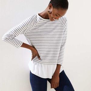 Loft Striped Sweatshirt